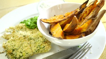 Fish and Sweet Potato Chips