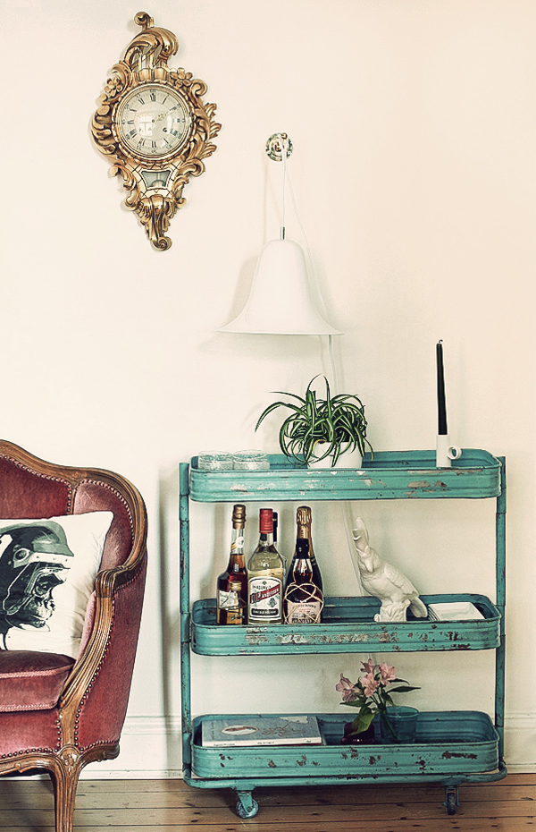 turquoise-vintage-drinks-trolley