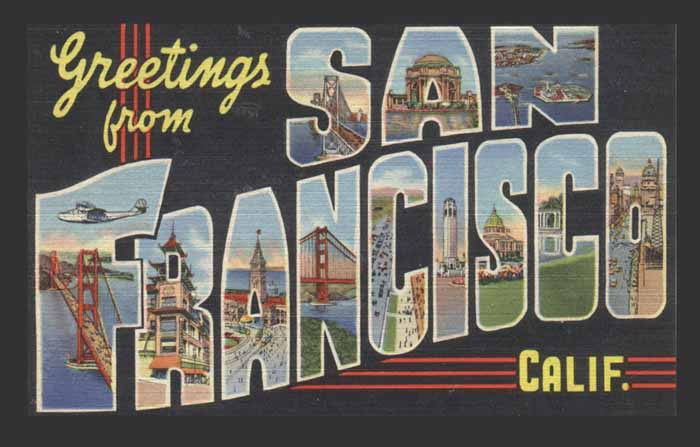 SF postcard