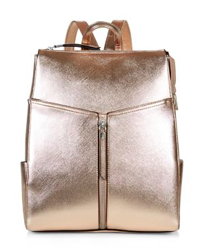 Backpack on a budget - New Look metallic gold backpack