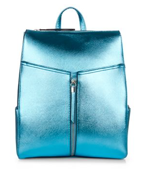 Backpack on a budget - New Look metallic blue backpack