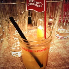 Cocktail making with Southern Comfort